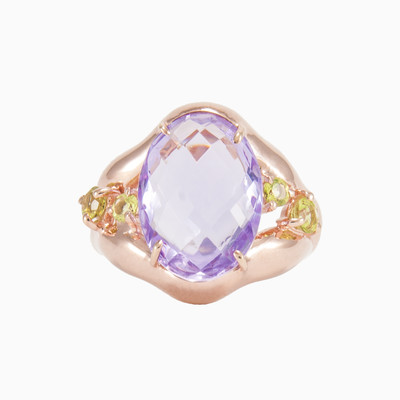Garden amethyst ring woman rings MC Gold