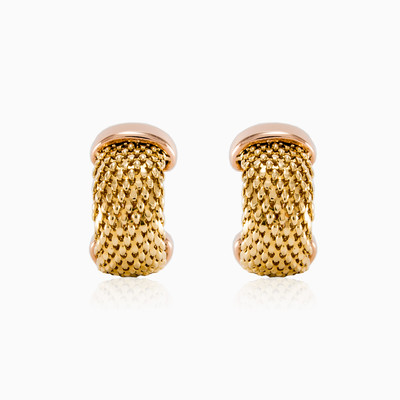 Золотые серьги Vintage  Женские Серьги Detallado