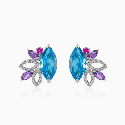 Topaz diamond earrings woman Earrings Tinge