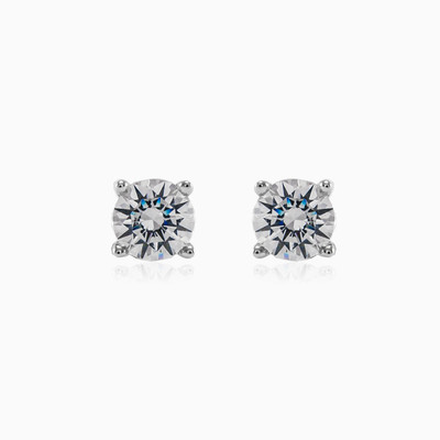 Classic white diamond studs woman earrings MC Diamonds