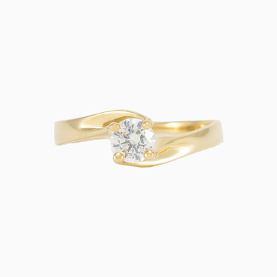 Yellow gold solitaire ring woman engagement rings MC Gold