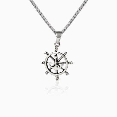 Rudder and anchor pendant unisex pendants