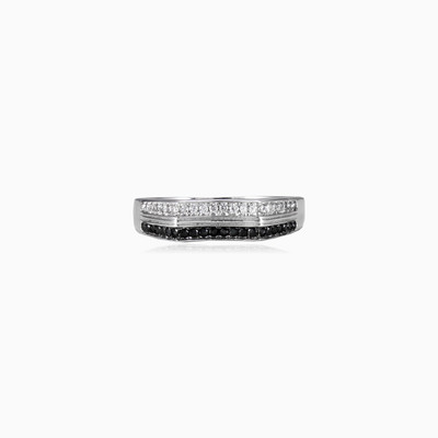 Black and white ring unisex rings Shine bright