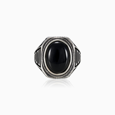 Cabochon onyx ring man rings NT