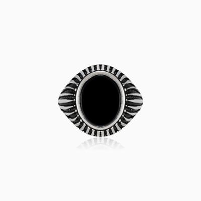 Lining onyx ring unisex Rings Harmony