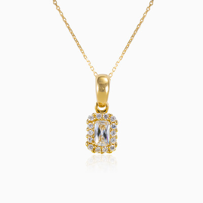 Rectangle halo pendant woman pendants Royal