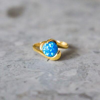 Unique blue opal ring woman Rings Tinge