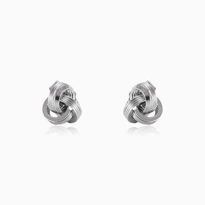 Twisted ball earrings woman earrings MC Silver