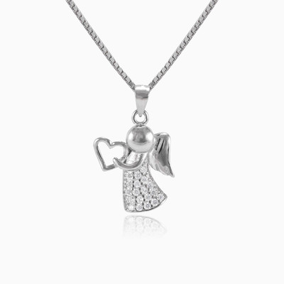 Silver lovely angel pendant woman pendants MC Silver