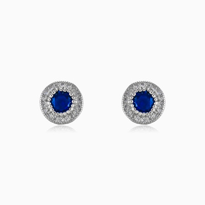 Blue baroque earrings woman earrings MC Silver