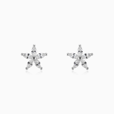 Star flower earrings woman earrings MC Silver