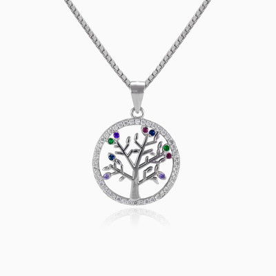 Colorful tree of life woman pendants MC Silver