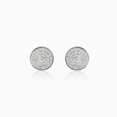 Button earrings unisex Earrings Shine bright