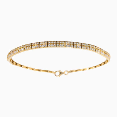 Two row pavé bracelet woman bracelets MC Gold