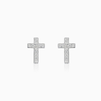 Cross earrings woman earrings MC Silver