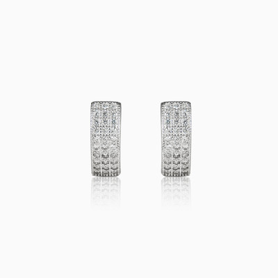 Pave hoops woman earrings Shine bright