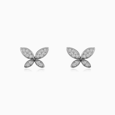 Floral butterfly earrings woman earrings Animale