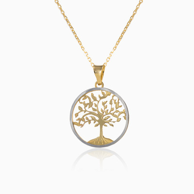 Double sided tree of life unisex colgantes