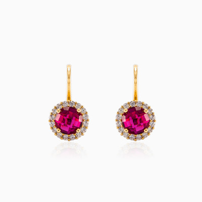 Rubellite earrings woman earrings MC Gold