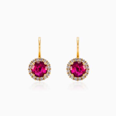 Round rubellite earrings woman Earrings Royal