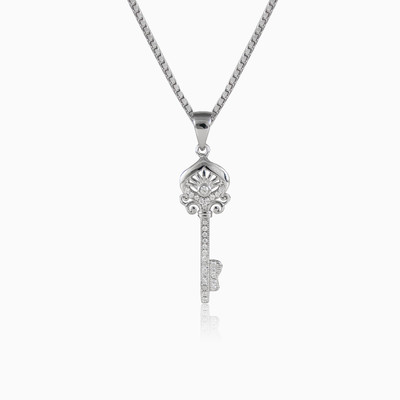 Oriental key woman pendants MC Silver