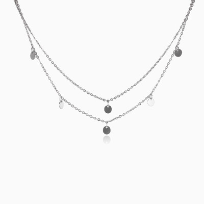 Dangling necklace woman necklaces MC Silver