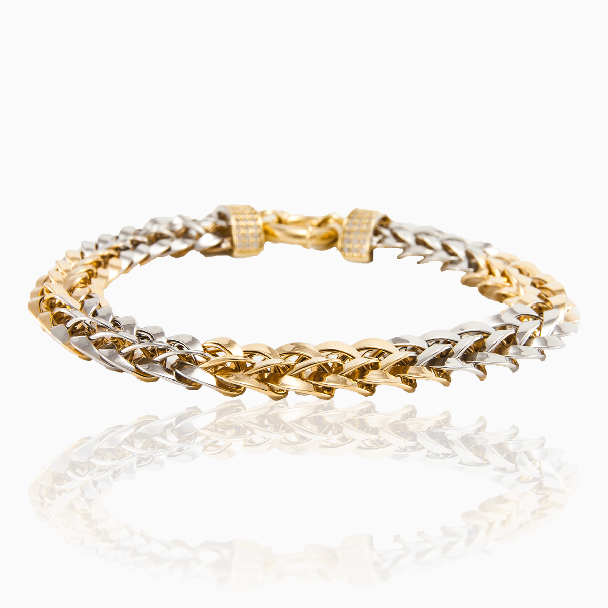 Yellow & white 14k gold bracelet for women - Monte Cristo