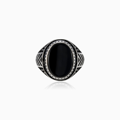 Onyx and spinel ring man rings NT