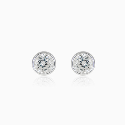 Bezel studs unisex earrings Shine bright