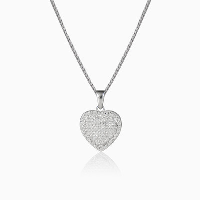 Pave heart woman pendants