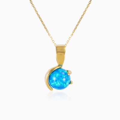 Unique blue opal pendant woman Pendants Tinge