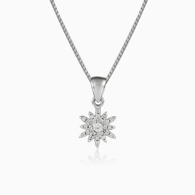 Crystal snowflake woman pendants MC Silver