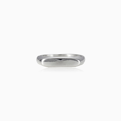 Silver line ring unisex Rings High polished