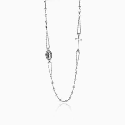 Silver rosary necklace woman Necklaces Santa Croce