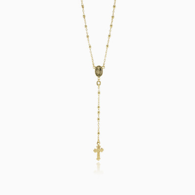 Gold rosary unisex necklaces Santa Croce