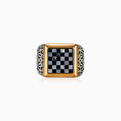 Chess board ring man rings