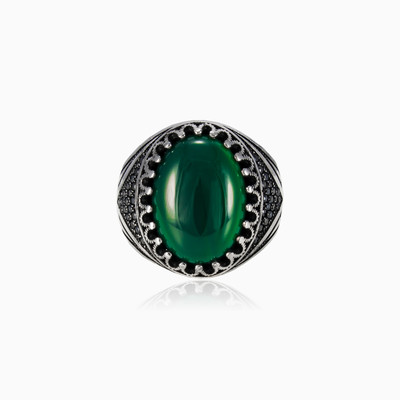Green jade ring man rings NT
