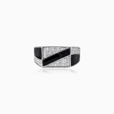 Diagonal enamel ring unisex Rings Shine bright