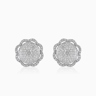 Sparkling flower earrings woman Earrings Lustrous