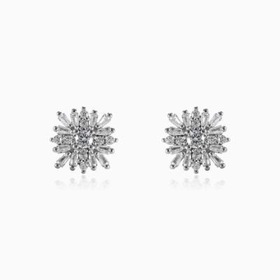 Square snowflake earrings woman Earrings Shine bright