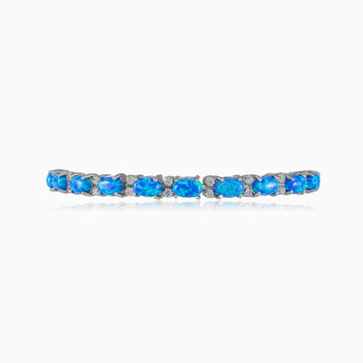 Tennis blue opal bracelet woman Bracelets Colorino