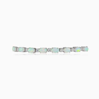 Tennis white opal bracelet woman Bracelets