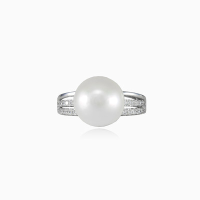 pearl ring woman rings MC Silver