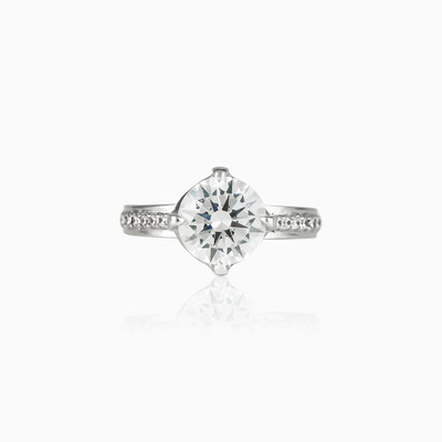 Round accent ring woman engagement rings Shine bright