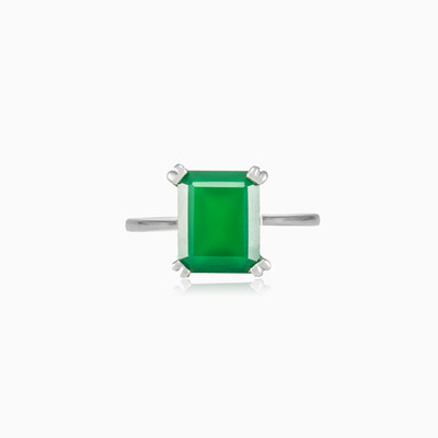Emerald jade ring woman rings