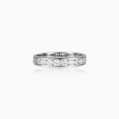 Channel set ring woman Wedding rings Shine bright