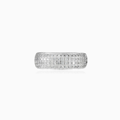 2Four crystal rows ring  woman Rings Shine bright