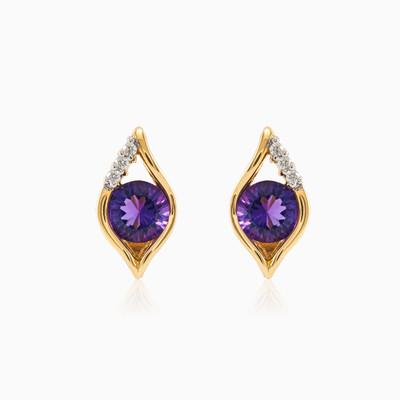 Amethyst eye earrings woman Earrings Tinge
