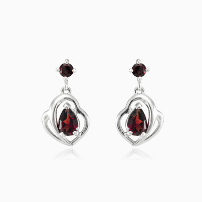 Garnet drop earrings woman earrings Colorino