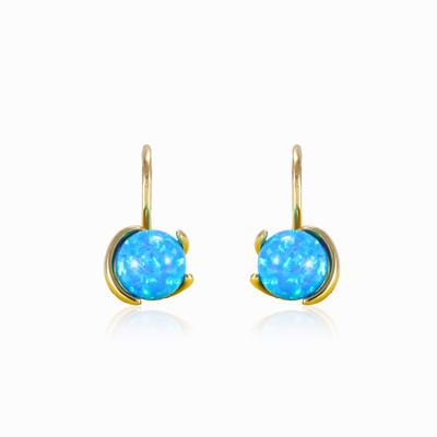 Unique blue opal earrings woman Earrings Tinge